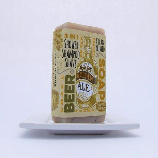 golden ale soap, men gift natural