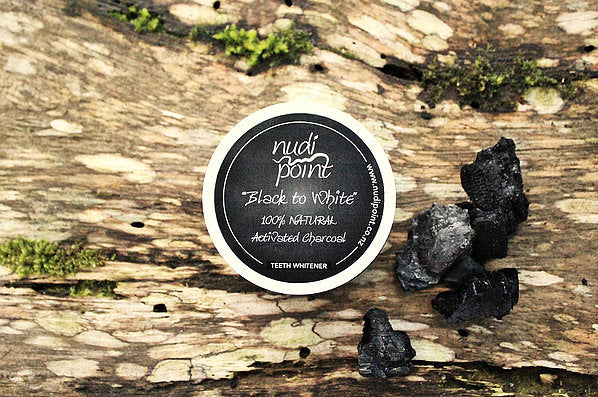 100% natural activated charcoal teeth whitener by nudi point