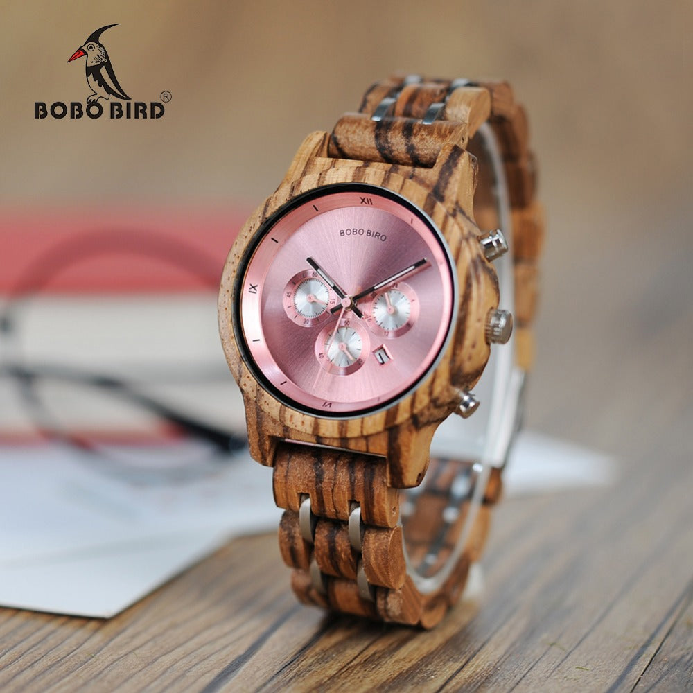 Pink Wood Watch