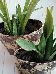 Natural Black Large Basket