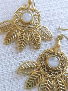 Palm Leaf Fan Earrings