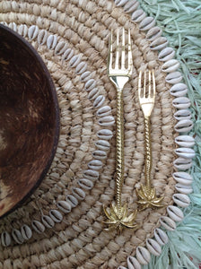 Small Brass Pineapple Spoon