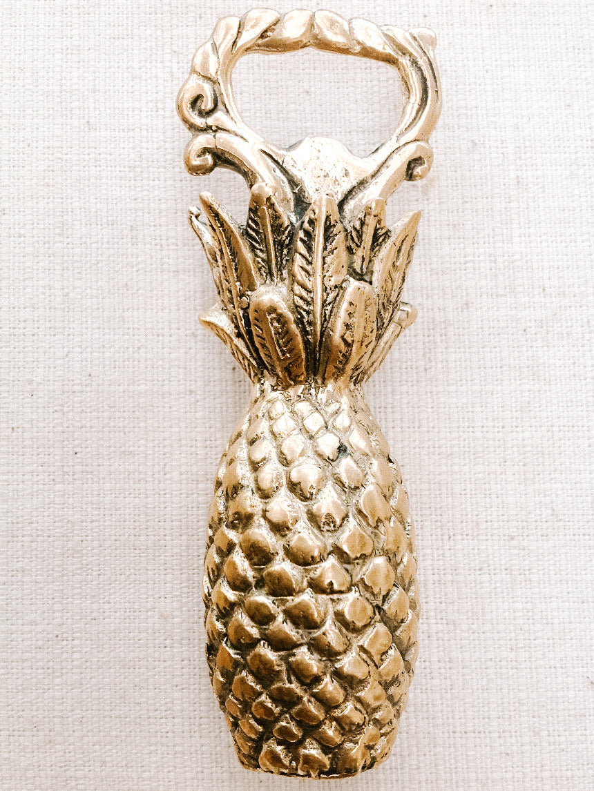 Brass Handcrafted Pineapple Bottle Opener
