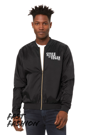 Style And Vegans Men's Flight Jacket