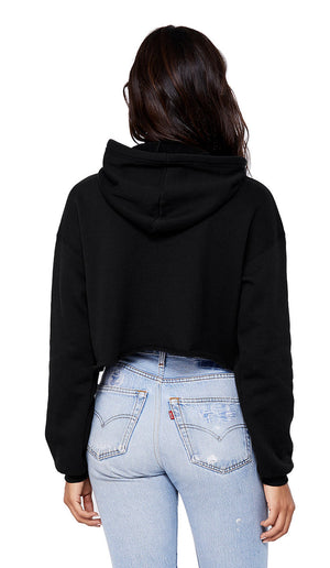 Style And Vegan Cropped Hoodie