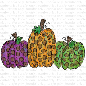 Leopard Pumpkins Sublimation Transfer