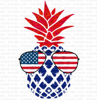 Patriotic Pineapple Sublimation Transfer