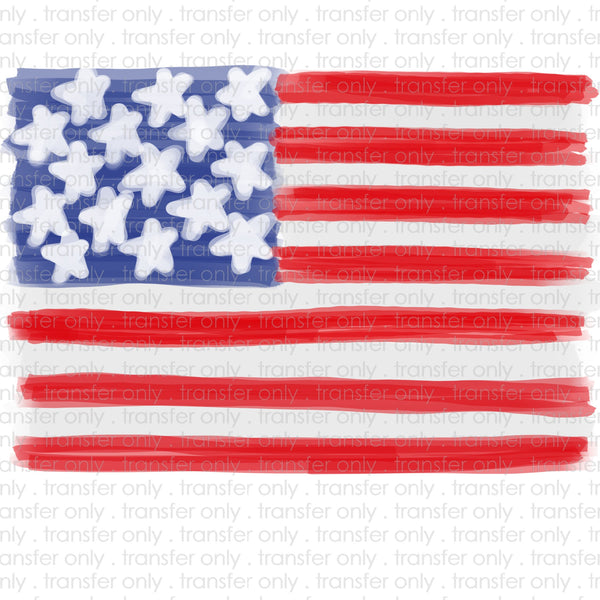 Watercolor Flag Sublimation Transfer