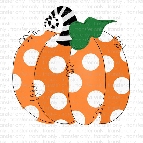 Polka Dot Pumpkin Sublimation Transfer