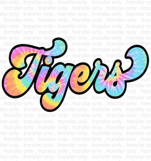 Tigers Tie Dye Sublimation Transfer