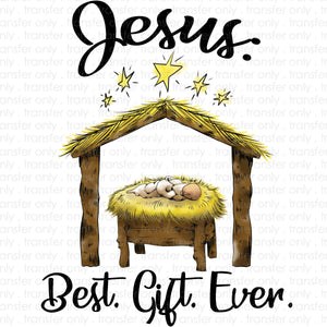 Jesus the Greatest Gift Sublimation Transfer