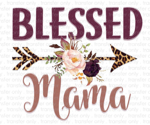 Blessed Mama Sublimation Transfer