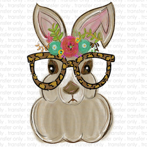 Bunny Glasses Sublimation Transfer