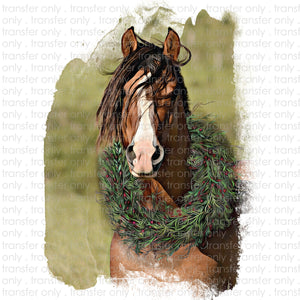 Christmas Horse Sublimation Transfer