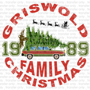 Griswold Family Christmas Sublimation Transfer