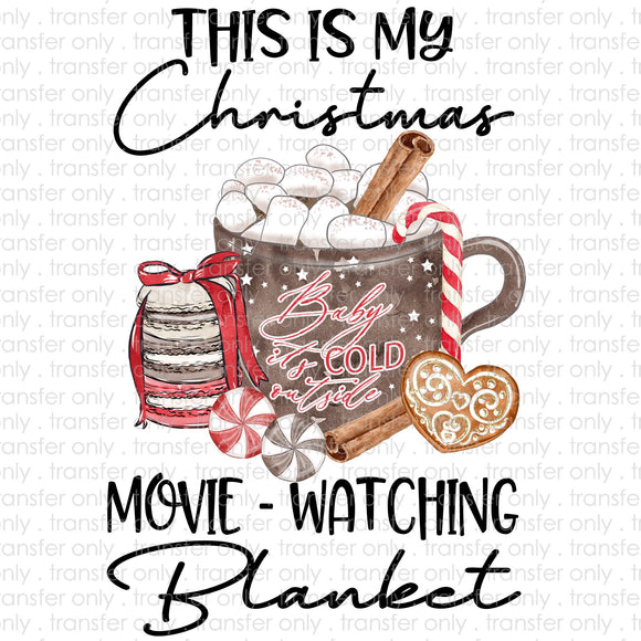 Christmas Watching Blanket Sublimation Transfer