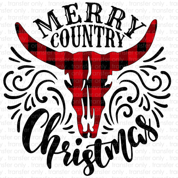 Merry Country Christmas Sublimation Transfer