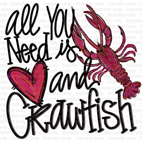 Crawfish Love Sublimation Transfer