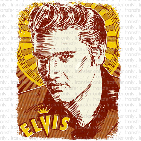 Elvis Pop Art Heat Transfer Vinyl Transfer