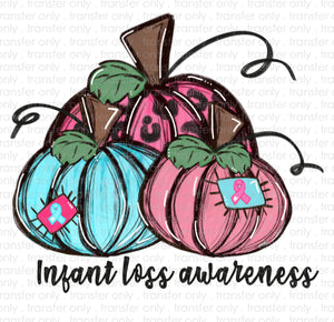 Infant Loss Awareness Sublimation Transfer