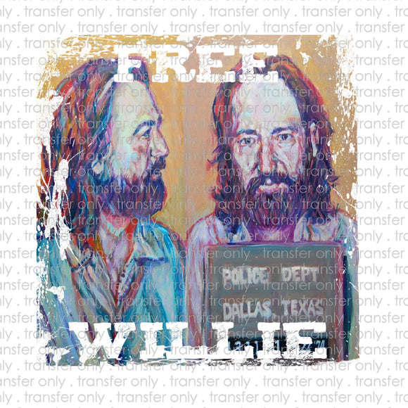 Free Willie Sublimation Transfer