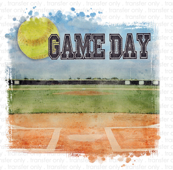 Game Day Softball Field Sublimation Transfer