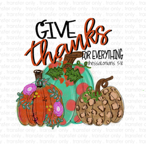 Give Thanks Sublimation Transfer