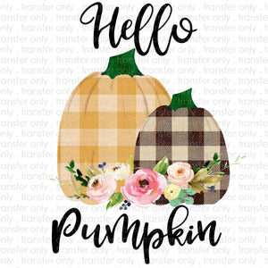 Hello Pumpkin Sublimation Transfer