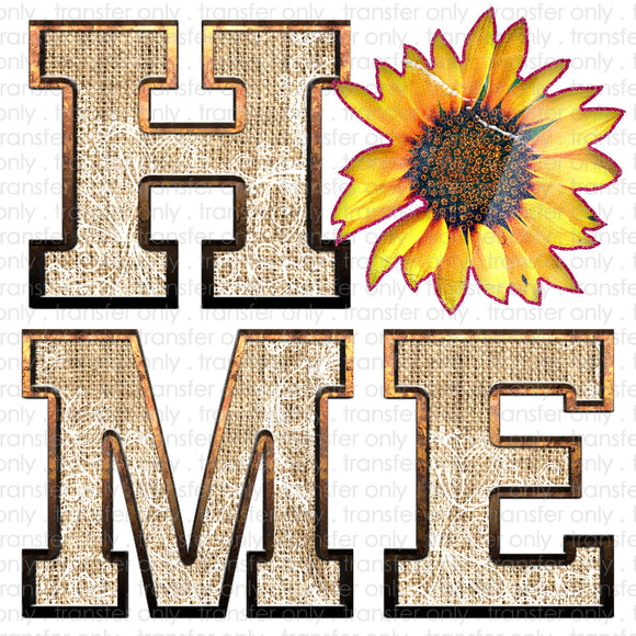 Home Sunflower Sublimation Transfer