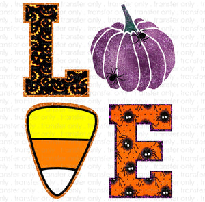 Love Halloween Sublimation Transfer