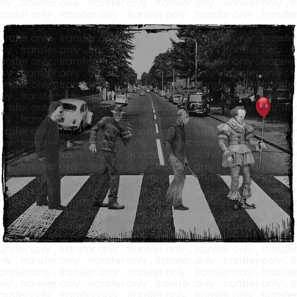 Halloween Abbey Road Sublimation Transfer