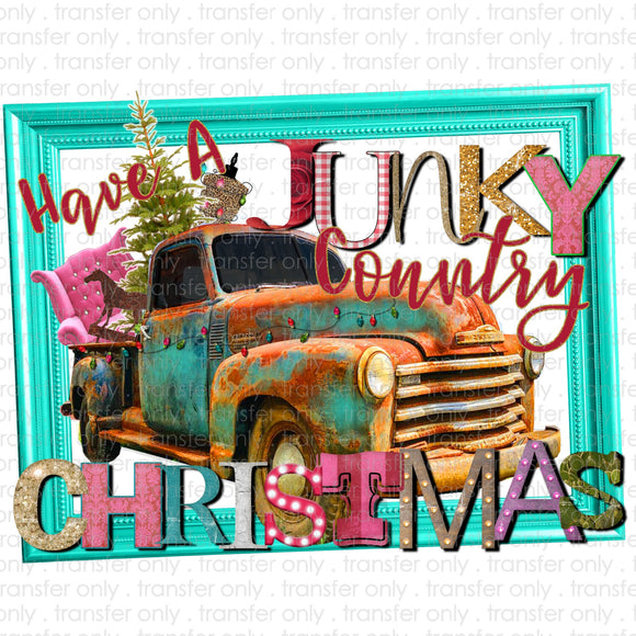 Junky Country Christmas Sublimation Transfer