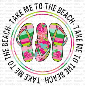 Take me to the Beach Sublimation Transfer