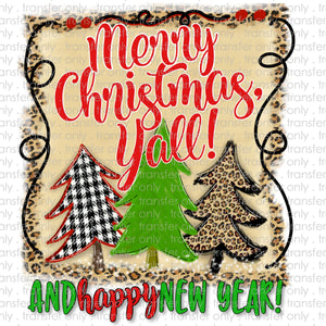 Merry Christmas and Happy New Year Sublimation Transfer