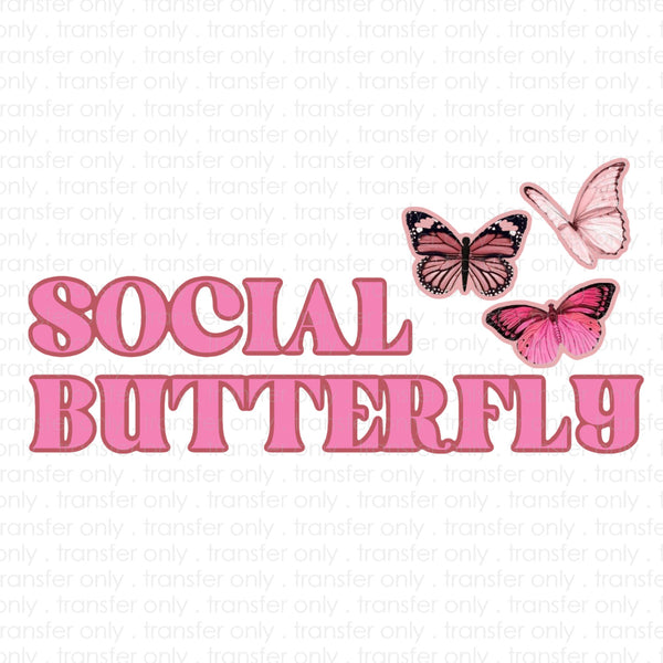 Social Butterfly Sublimation Transfer