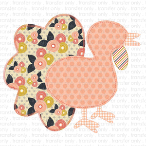 Patchwork Turkey  Sublimation Transfer