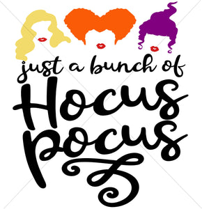 Just a Bunch of Hocus Pocus Sublimation Transfer