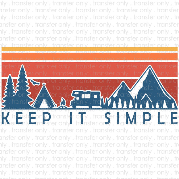 Keep it Simple Camper Sublimation Transfer