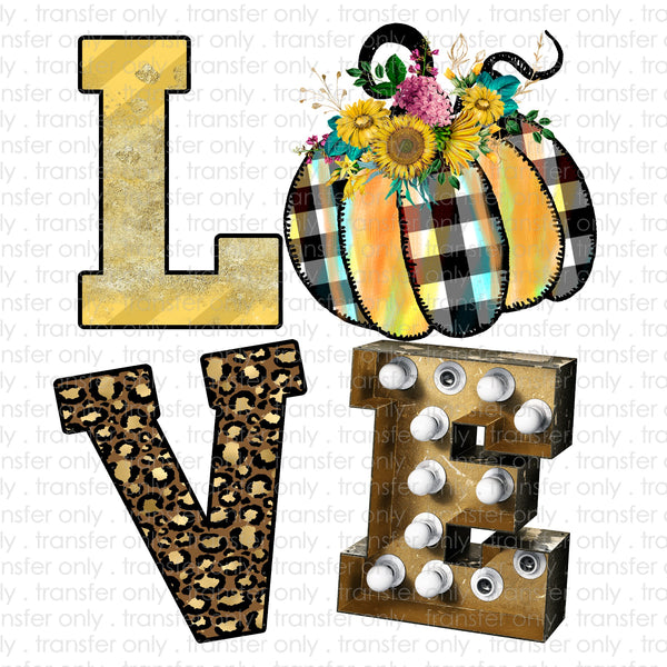 Fall Marquee Love Sublimation Transfer