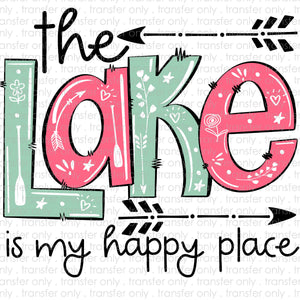 the Lake is my Happy Place Sublimation Transfer