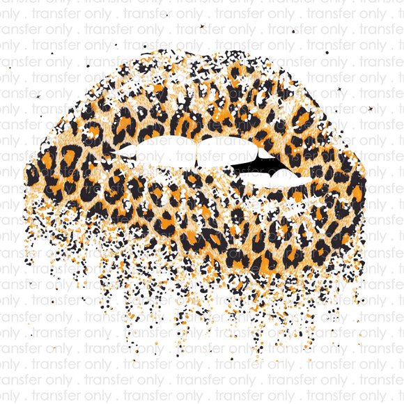 Leopard Lips Sublimation Transfer