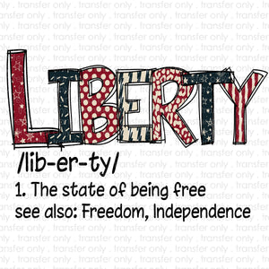 Liberty Definition Sublimation Transfer