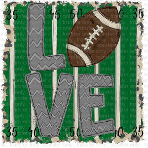 Love Football Field Sublimation Transfer