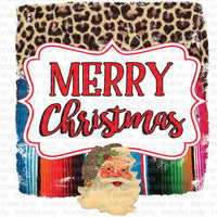 Merry Christmas Y'all Serape Frame Sublimation Transfer