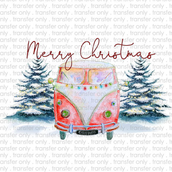 Merry Christmas Bus Sublimation Transfer