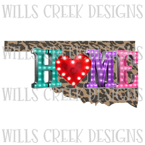 Oklahome Home Marquee Digital Download