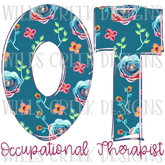 Occupational Therapist Doodle Sublimation Transfer