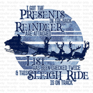 Old Town Road Reindeer Sublimation Transfer