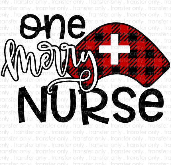 One Merry Nurse Sublimation Transfer