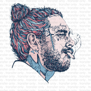 Post Malone Sublimation Transfer